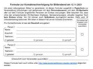 Formular zur Kontakterfassung